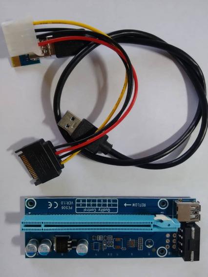 Riser Convertidor Adaptador Pci Express 1x A 16x Usb