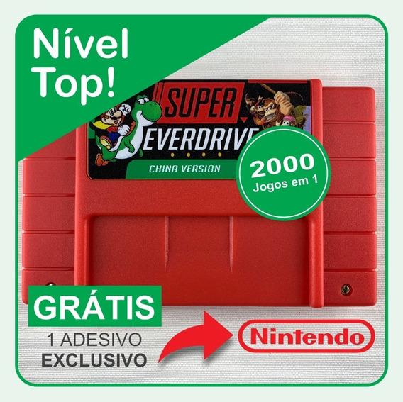 Cartucho Fita 2000 Em 1 Super Nintendo Snes Multi Jogos