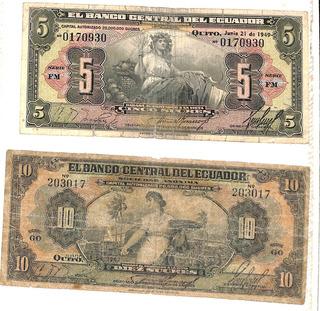 Coleccion De Billetes Y Monedas Ecuador Y Varios Paises