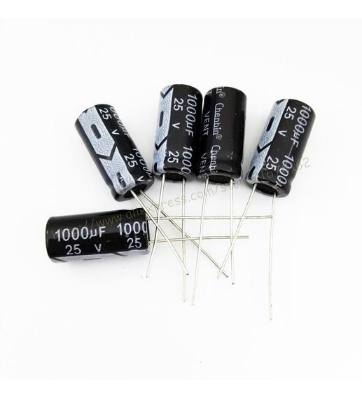 50x Capacitor Eletrolítico 1000uf 25v 105 °c 50 Unidades