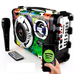 Micro System Caixa Som Amplicada Rca Mp3 Usb Karaoke Sd Hifi