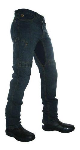 Imagem 1 de 3 de Calça Moto Jeans Com Proteção Hlx Masculina Spirit Confort