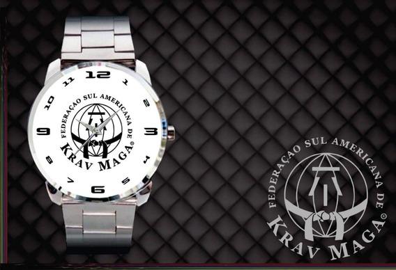 Kit 2 Relógios De Pulso Personalizados Krav Maga