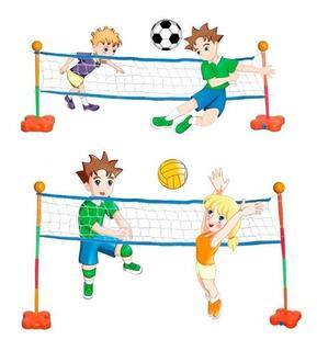 Fútbol-tenis Y Voley 2 En 1 Juegosol Art.25 Center Hogar