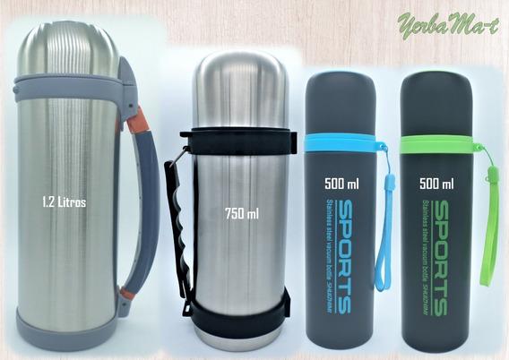 Termos 500ml/750ml/1.2 L -acero Inox -ideal Para Yerba Mate.