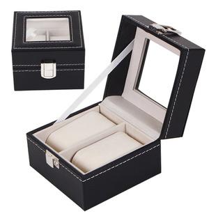 Caja Organizadora Iremico Para Reloj 2 Slot Joyeria Negro