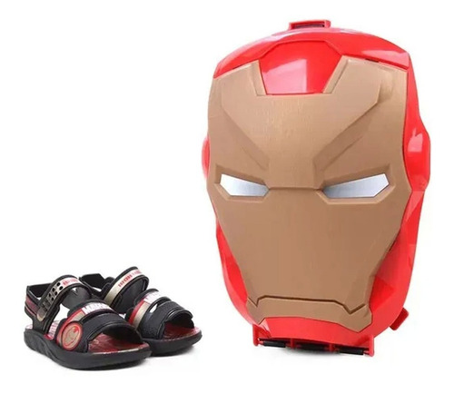 Sandalia Mvl Iron Man Pro Inf Pt/pt-dou