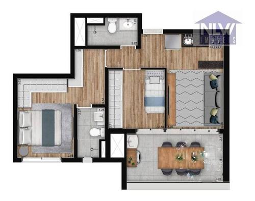 Imagem 1 de 23 de Apartamento À Venda, 87 M² Por R$ 999.000,00 - Santo Amaro - São Paulo/sp - Ap3264