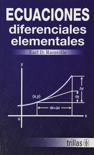 Ecuaciones Diferenciales Elementales Trillas
