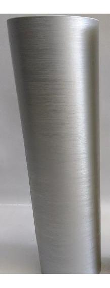 Vinil Adesivo Aço Escovado Prata Inox - 7mx60cm