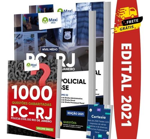 Imagem 1 de 6 de Kit Apostila Concurso Pc Rj - Investigador Policial + Testes