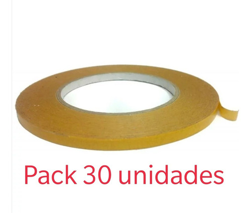 Cinta Transferible Doble Faz Contacto 50m X 9mm/ Cart Paper