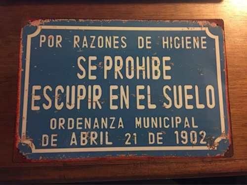 Cartel Chapa Tipo Antiguo Vintage Barbacoa Parrillero 30x20