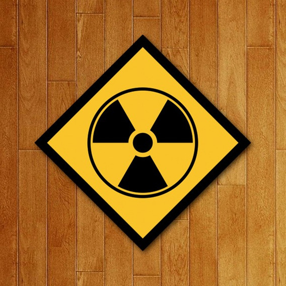 Placa Decorativa - Radioativo