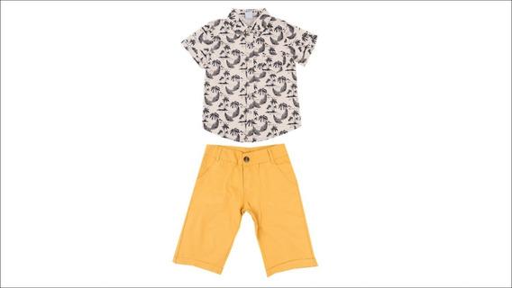 Conjunto Infantil Menino Camisa Tropical