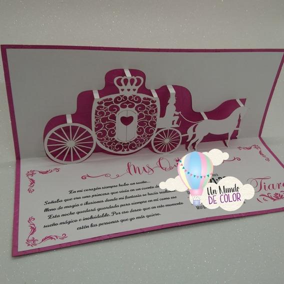 Tarjeta De Invitación Para 15 Años Carruaje Souvenirs