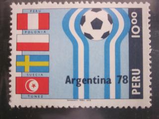 Estampilla Nueva Perú Mundial Argentina 78