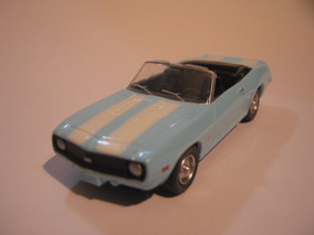 Miniatura 1969 Camaro Conversivel-green Light-esc.1/64-(9219