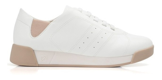 Tênis Branco Piccadilly Elástico Calçado Lançamento Promoção