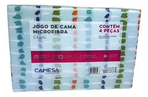 Jogo Cama Casal Kit 4 Peças 2nlençois +  2 Fronhas Camesa