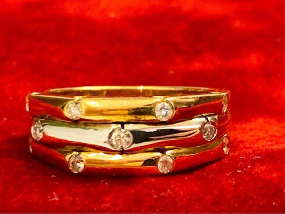 Anel H.stern Com Diamantes , Ouro Rosa , Branco E Amarelo!
