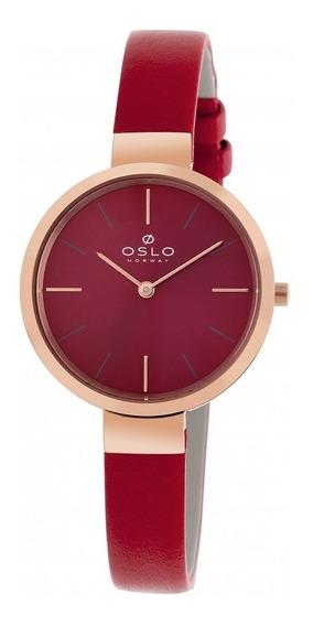 Relógio Oslo Ofrscs9t0005 V1vx Slim Couro Original