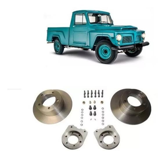 Kit Disco De Freio Traseiro Ford F75 / Jeep Rural, Willys