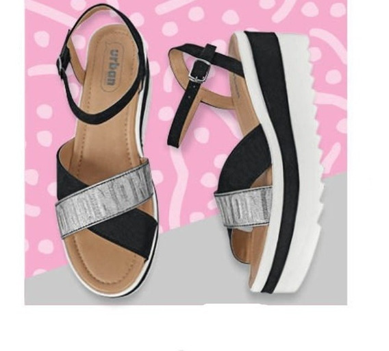 Calzado Zapato Dama Mujer Color Negro Plataforma 7 Cm Comodo