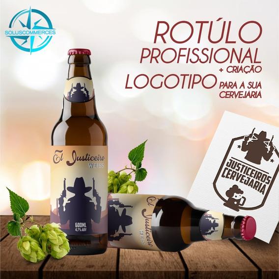 Criação Rotúlo Cerveja + Logomarca Para Sua Cervejaria