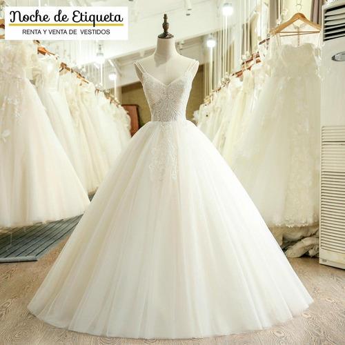 Imagen 1 de 4 de Vestido Novia Nuevo Corteprincesa Strapless Blanco/marfil