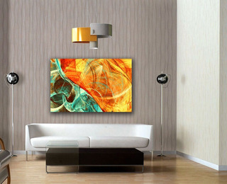 Cuadro Canvas Fondo Dinámico & Futurista Brillante 75x120cm
