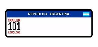 Patente Para Trailer 101 Mercosur En Chapa Autoadhesivos