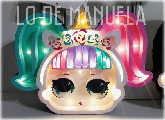 Unicornio Arcoiris Led Polyfan Velador Candy Simones Frozen