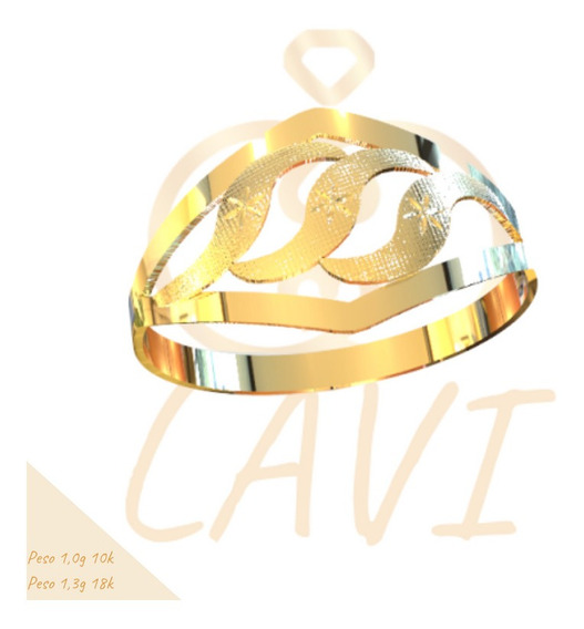 Anel Chapa Recortada Leve Ouro 18k C8