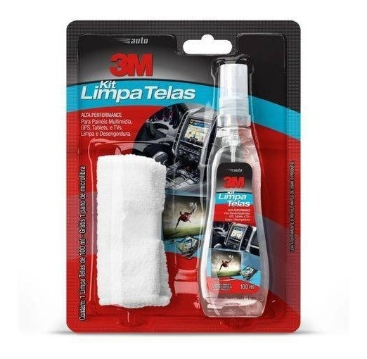 Kit Limpa Telas Celular Notebook Pc Monitor 100ml 3m