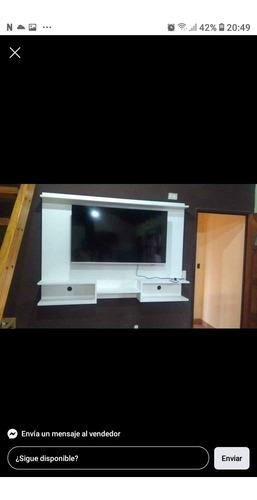 Imagen 1 de 4 de Panel Rack Flotante 120cm X 90cm Más Soporte Smart Tv Led