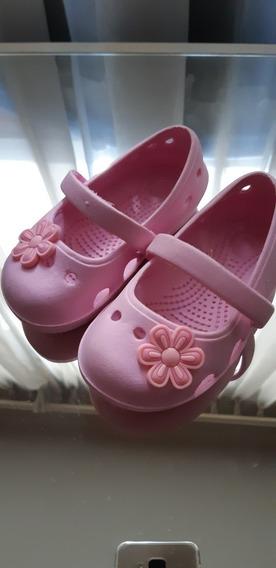 Tipo Crocs Balerina Baby Excelente Estado. Plantilla13 Cm