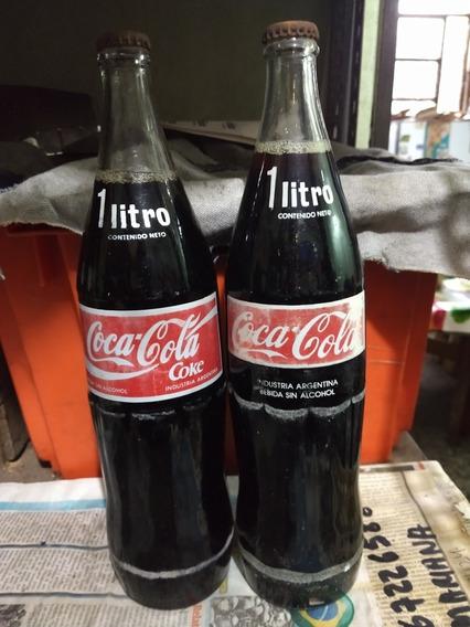 Antiguas Botellas De Coca Cola De 1 Litro De Los 80