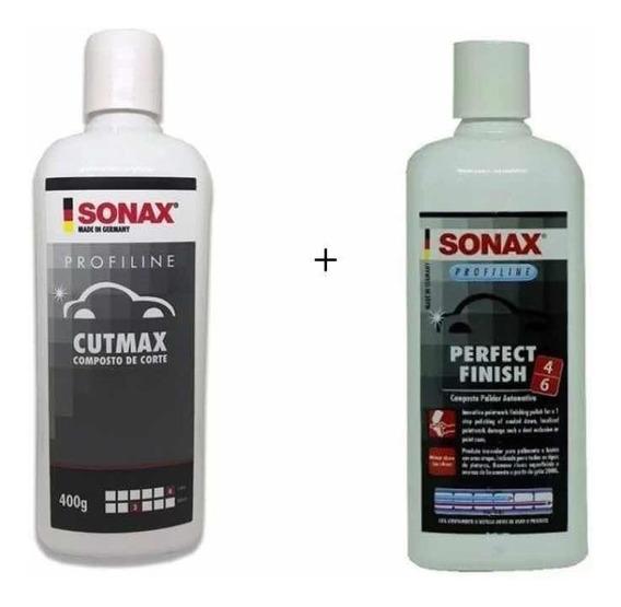 Kit Polimento Sonax Cutmax Corte + Perfect Finish
