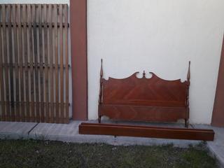 Cama Matrimonial Dos Plazas Estilo Colonial Español