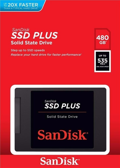 Hd Ssd 480gb Sandisk Plus G26 2.5 Sata3 6gb/s Pronta Entrega