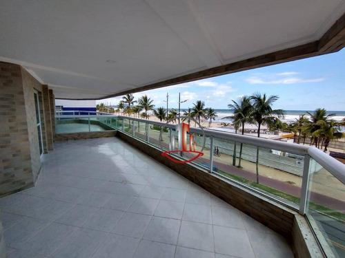 Apartamento Com 3 Dormitórios À Venda, 159 M² Por R$ 680.000 - Ocian - Praia Grande/sp - Ap2322