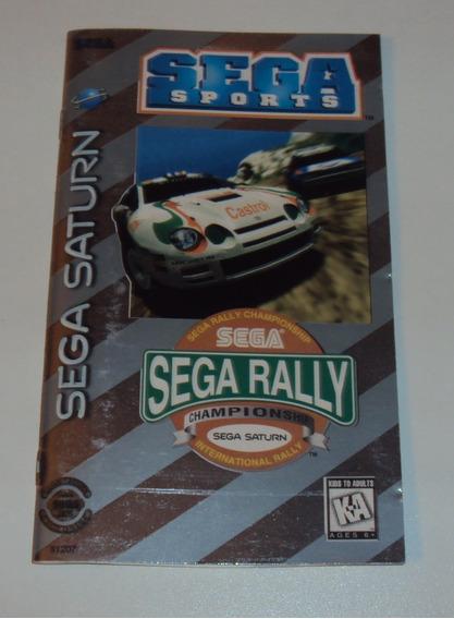 Manual Original Sega Rally Championship - Sega Saturn
