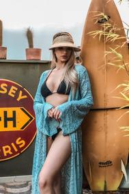 Moda Praia Saída Rendada Em Crochê Super Chique Confortável