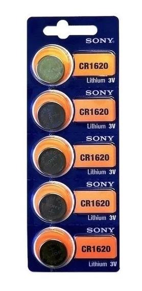 Bateria Pilha Cr1620 Cartela Com 5 Unidades 100% Original !