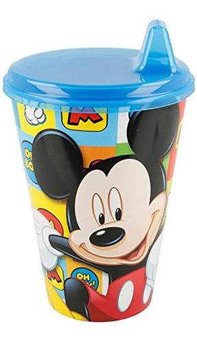 Copo Infantil Com Bebedor Rígido Mickey Disney 430ml - Lillo
