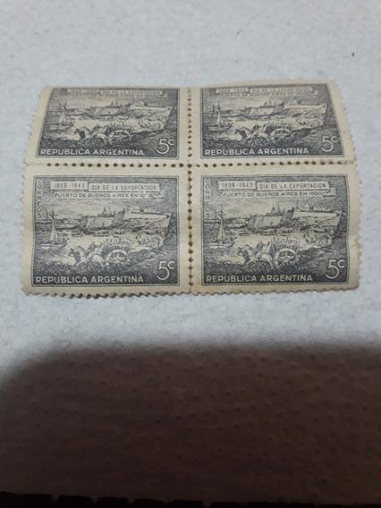 Estampilla Día De La Exportación 1943 5 Centavos Nuevos
