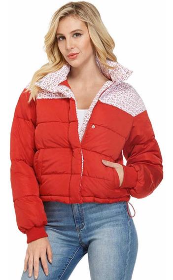 Chamarra Guess Mujer Original Puffer Jacket Monograma
