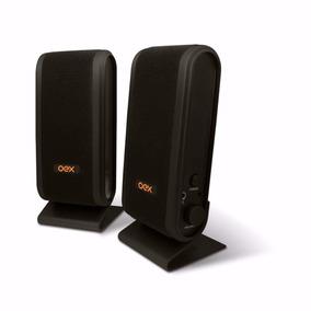 Caixa De Som Sk101 Oex Speaker Slim Usb Para Computador Pc