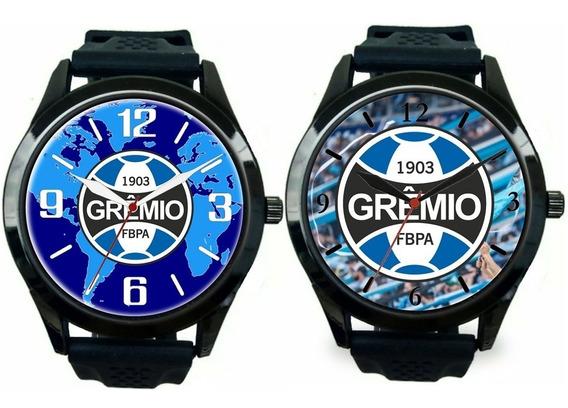 Kit 2 Relógio Pulso Esportivo Personalizado Gremista Imortal
